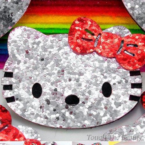 Заготовка из фетра Hello Kitty серебро 5*5,4см (1шт)
