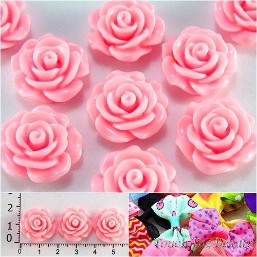 Серединка пластик Розочка розовая 19мм (5шт)