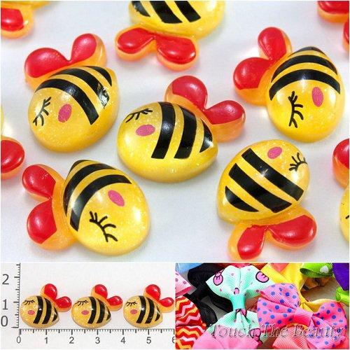 Серединка пластик Пчелка 20*16мм (5шт)