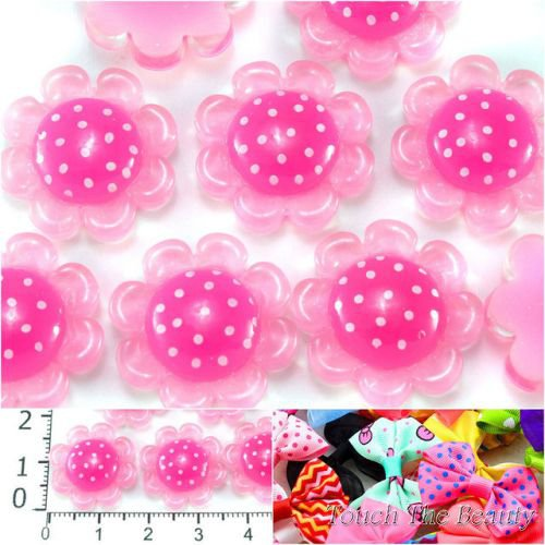 Серединка пластик Цветочек розовый 18мм (5шт)