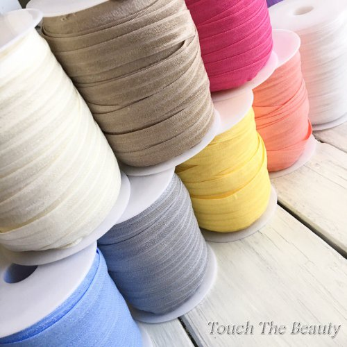 Резинка для повязок на голову (стрейчевая бейка) 1,5см (1м)