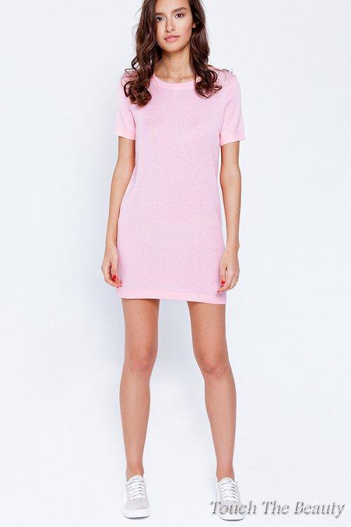 Платье трикотажное Розовый (S)