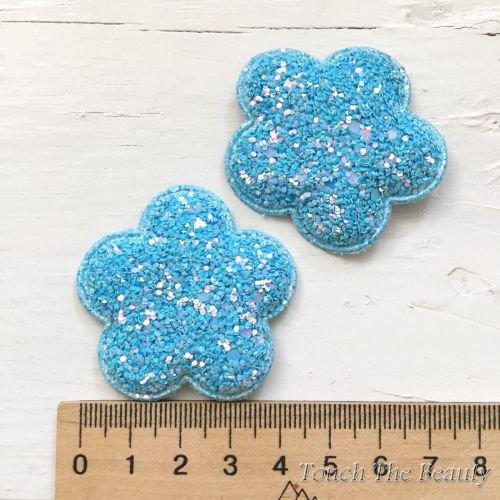 Патч Цветочек Голубой 4,6см (1шт)