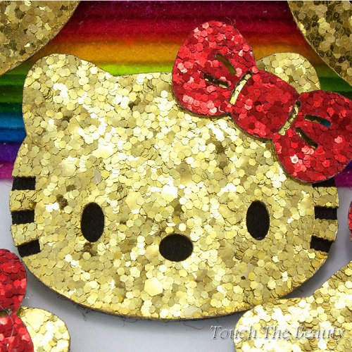 Заготовка из фетра Hello Kitty золото 5*5,4см (1шт)