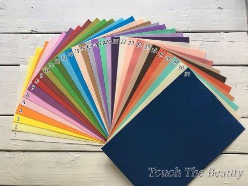 Фоамиран набор 31 цвет 20*30см 1мм (ФОМ ЭВА, пористая резина)
