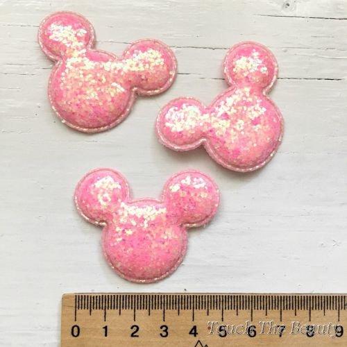 Патч Микки Розовый 5см (1шт)