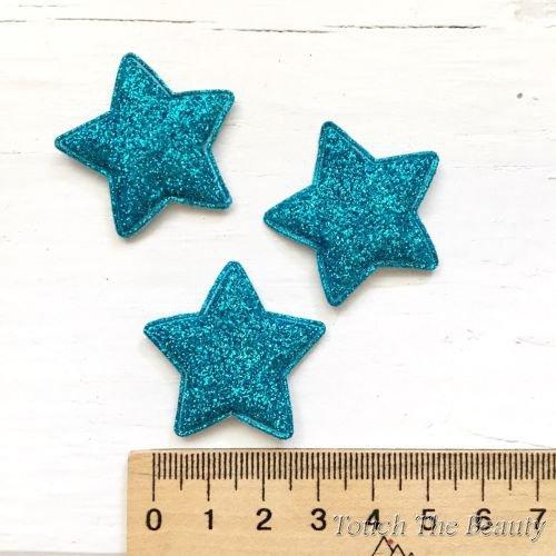 Патч Звезда Голубой 3,5см (1шт)
