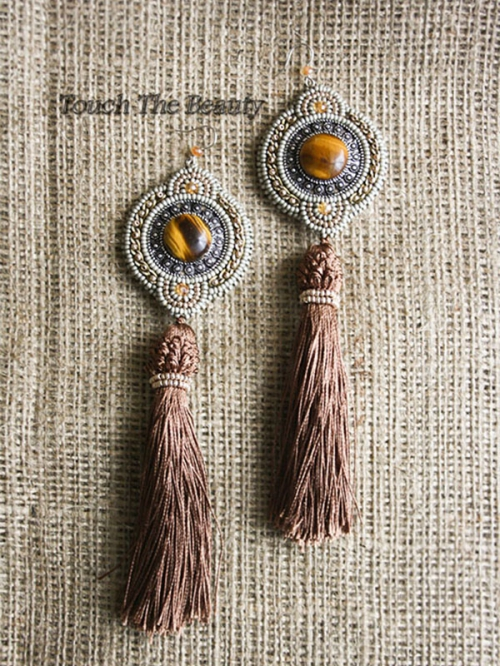 "Серьги ""Boho beads"""
