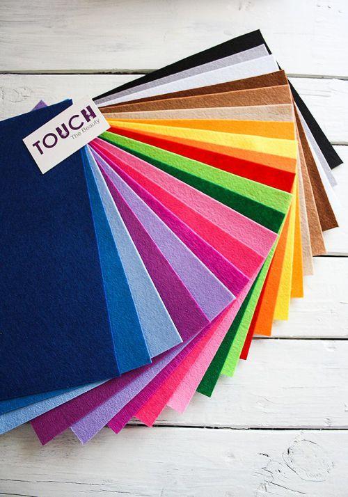 Набор цветного фетра touchthebeauty китайский купить палитра украина днепр киев