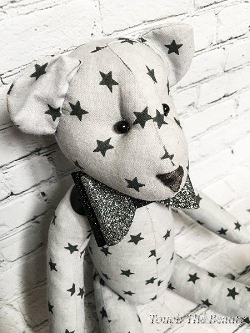 """Медвежонок """"Star"""" (серый в черную звездочку)"""