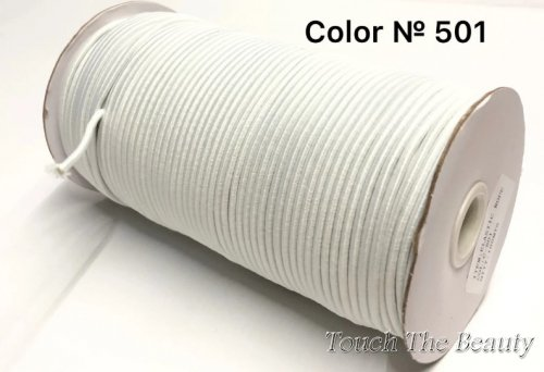 Эластичная круглая резинка 3мм (1м)