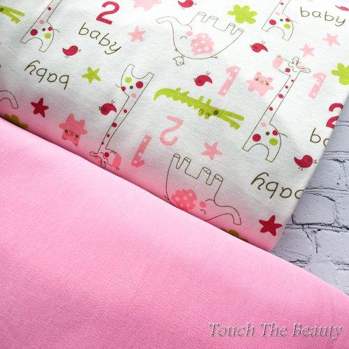 Интерлок Baby Animals Pink  (Ю.Корея)