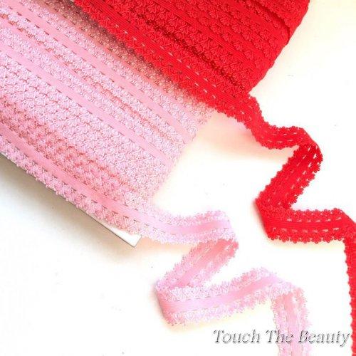 Резинка для повязок на голову (ажурная) 2,3см (1м)