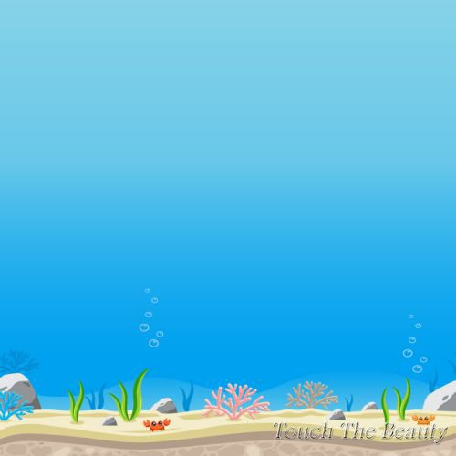 фон для развивающей книжки Подводный мир