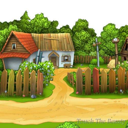 фон для развивающей книжки Деревня