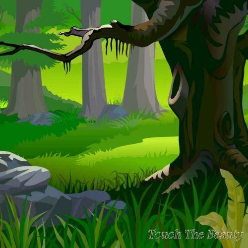 фон для развивающей книжки Страшный лес