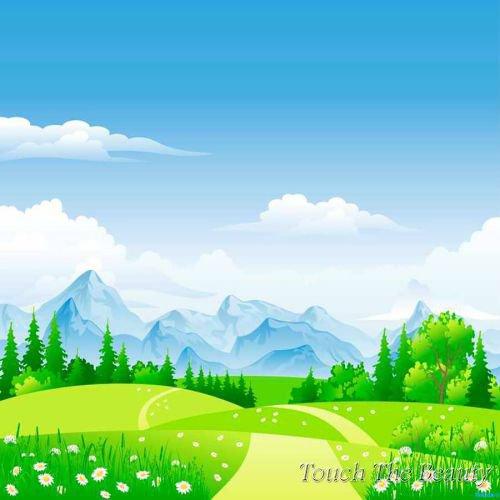фон для развивающей книжки Тропинка в поле