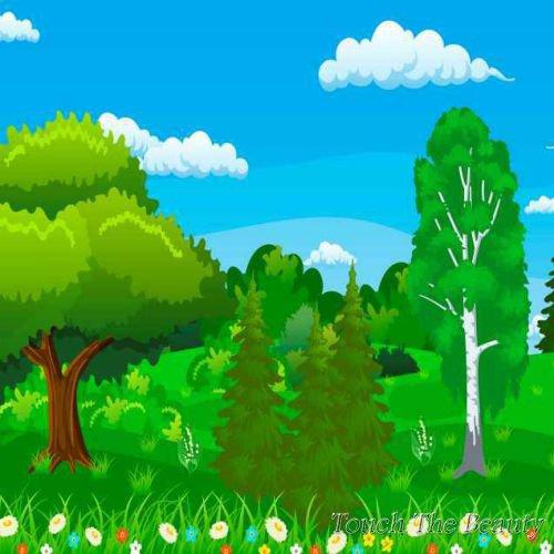 фон для развивающей книжки Деревья