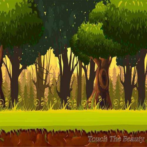 фон для развивающей книжки Густой лес