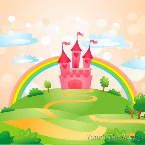 фон для развивающей книжки Розовый замок
