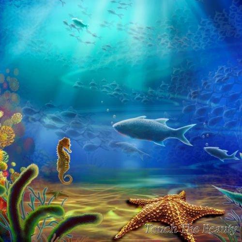 фон для развивающей книжки Под водой