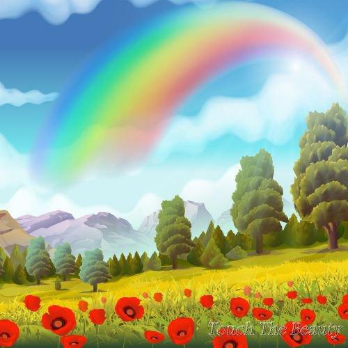 фон для развивающей книжки Маки и радуга