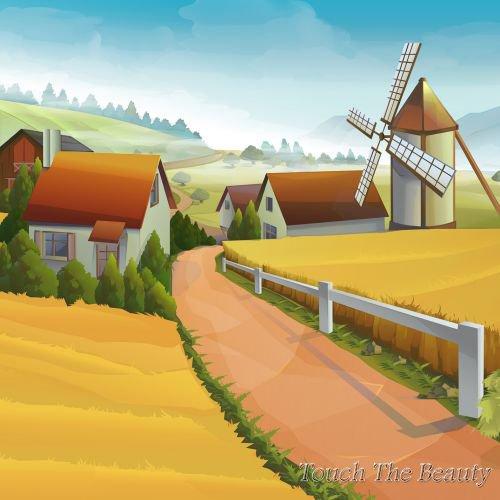 фон для развивающей книжки Сельская дорога