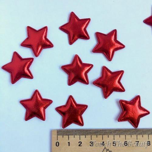Патч Звезда Красный 30*28мм (5шт)