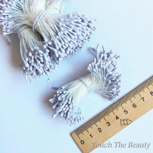 Тычинки на нитке светло-серые 2мм (25шт)