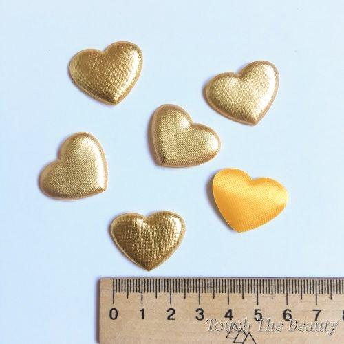 Патч Сердце Золото 27*22мм (5шт)