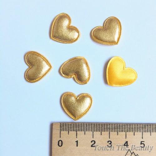 Патч Сердце Золото 20*18мм (5шт)