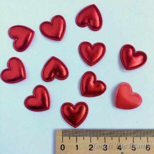 Патч Сердце Красный 20*18мм (5шт)