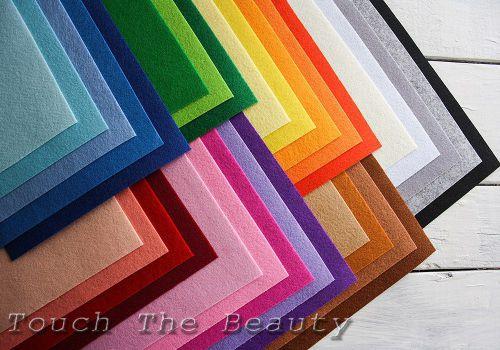 Набор цветного фетра touchthebeauty китайский купить палитра украина днепр киев на метраж оптом