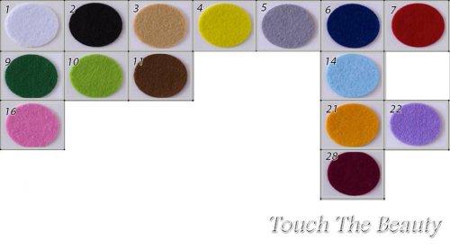 15*20 см Набор жесткого фетра 15 цветов 1мм (Китай)
