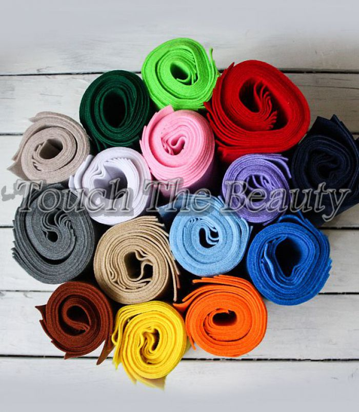 15*20 см Набор мягкого фетра 20 цветов 1,5мм (Китай)