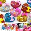 Серединка пластик Сердце МИКС 22*17мм (5шт)