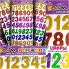 Цифры из фоамирана клеевые с глиттером 2мм 32*16 см