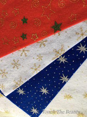купить фетр новогодний с глиттером оптом листовой блестящий украина звезды листовой