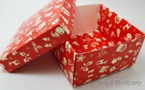 Коробка подарочная красная 9*9*5 см
