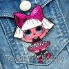 Патч (аппликация, нашивка) Кукла Лол LoL 8*5см (1шт)