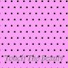Розовый фетр в мелкий черный горошек