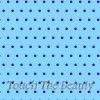 Голубой фетр в мелкий синий горошек