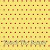 Бежевый фетр в мелкий красный горошек
