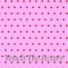 Розовый фетр в мелкий красный горошек