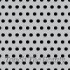 Серый фетр в крупный черный горошек