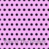 Розовый фетр в крупный черный горошек