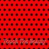 Красный фетр в крупный черный горошек