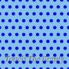 Голубой фетр в крупный синий горошек