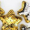 Патч Звезда двухцветные паеки (золото+серебро) 5см (1шт)