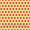 Бежевый фетр в крупный красный горошек